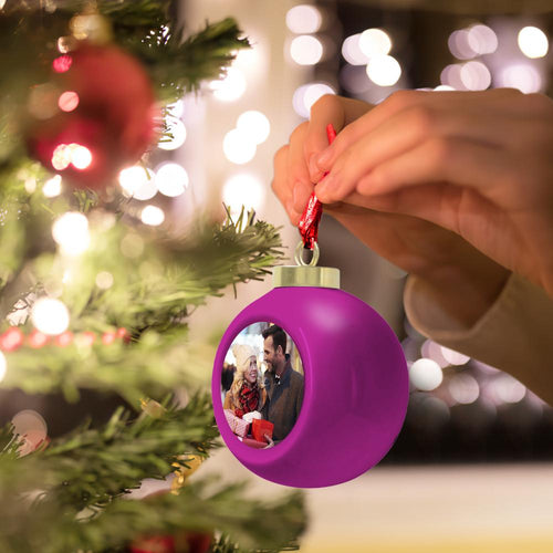 Custom Christmas Ball Photo Ball 6cm Christmas Tree Ornaments Home Decoration