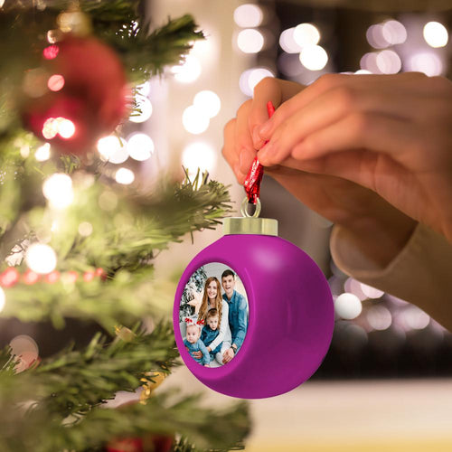 Custom Photo Christmas Ball Shape 6cm Christmas Tree Ornaments Home Decoration