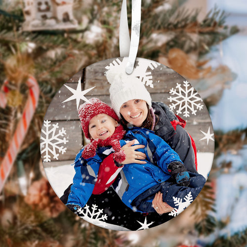 Personalized Mom Photo and Text Christmas Tree Ornament Christmas Gift for Mom