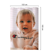 Custom Cute Baby Photo Polyester Shower Curtain Unique Bathroom Decor