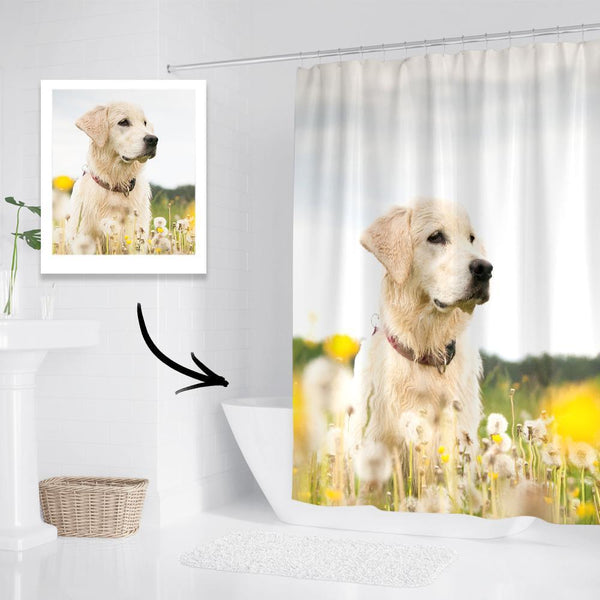 Personalized Shower Curtain Custom Photo Bathroom Decor