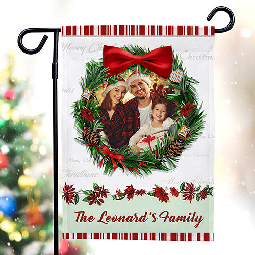 Custom Photo Garden Flag Personalized Engraved Festival Outdoor Yard Flag Decor