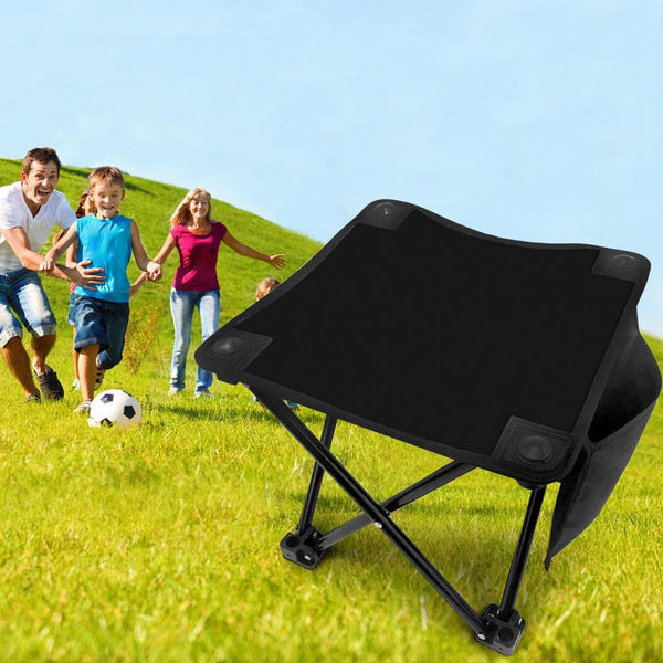 Pure black Folding Camping Stool Portable Outdoor Mini Chair
