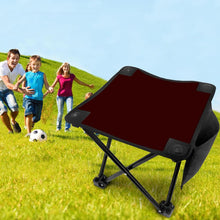 Dark Brown Folding Camping Stool Portable Outdoor Mini Chair