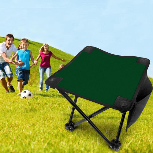 Green Folding Camping Stool Portable Outdoor Mini Chair