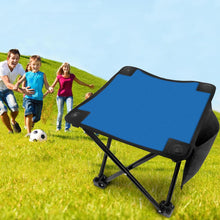 Blue Folding Camping Stool Portable Outdoor Mini Chair