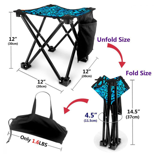 Folding Camping Stool Portable Outdoor Mini Chair Strong And Durable