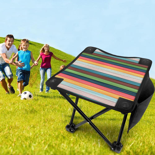Folding Camping Stool Portable Outdoor Mini Chair Slacker Stool