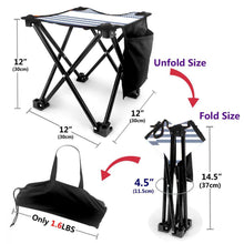 Folding Camping Stool Portable Outdoor Mini Chair Garden Seat