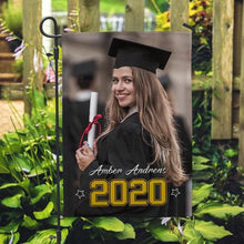 Custom Graduation Photo Garden Flag