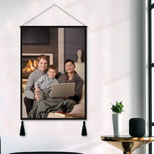 Custom Photo Tapestry - Wall Decor Hanging Fabric Painting Hanger Frame Poster Mother's Day Gift