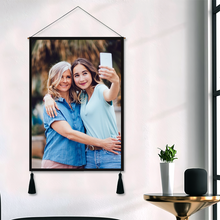 Custom Photo Tapestry - Family Wall Decor Fabric Painting Hanger Frame Poster