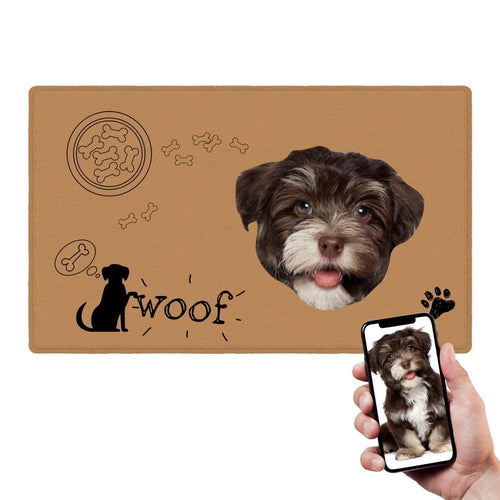 Custom Pet Dog Food Photo Doormat