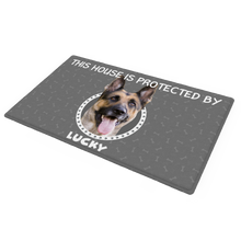 Custom Photo Doormat Personalized Doormat This House Is Protected By Pets