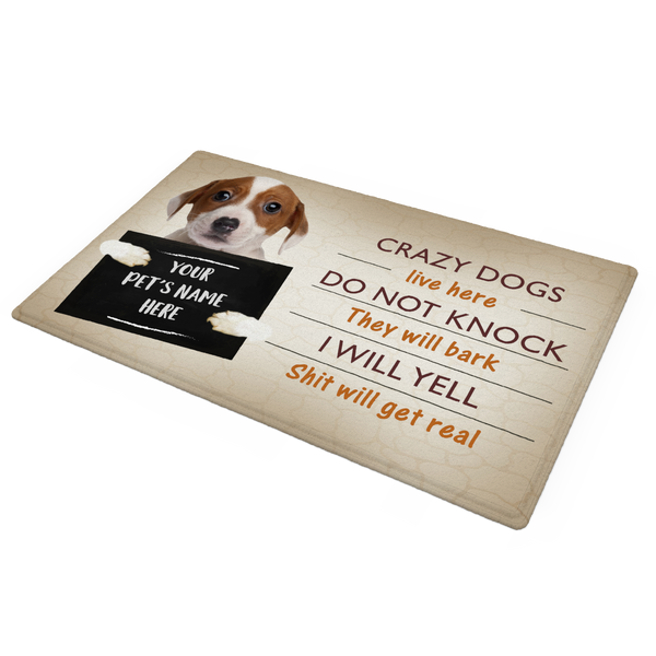 Crazy Pet Doormat with Your Pet's Photo And Name