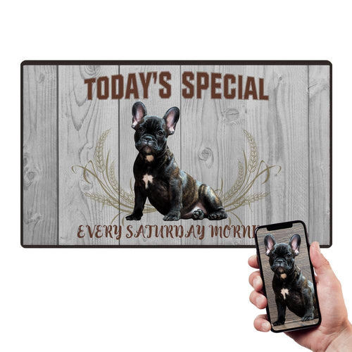 Pet Photo Doormat Custom Special Mat With Your Pet's Photo
