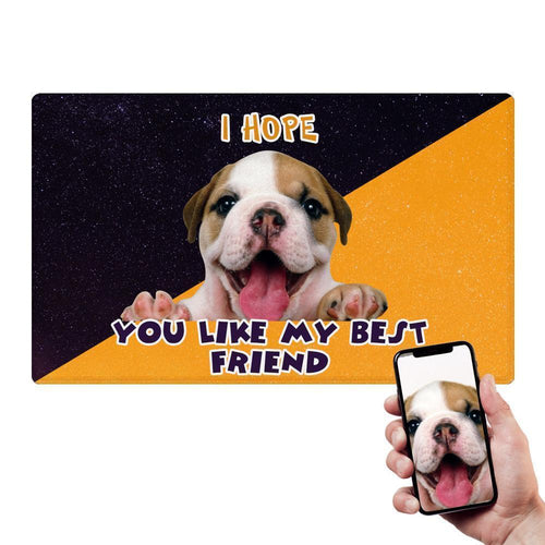 Custom Dog Photo Doormat Pet Lover Mat With Your Pet's Photo