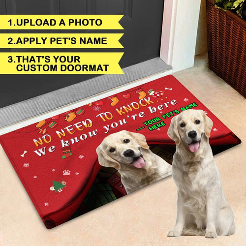 Customize Door Mat With Your Pet's Photo And Name Doormat