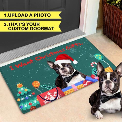Customize Cute Door Mat Christmas Pet Photo Doormat
