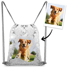 Personalized Sequin Backpack with Photo of Your Pet