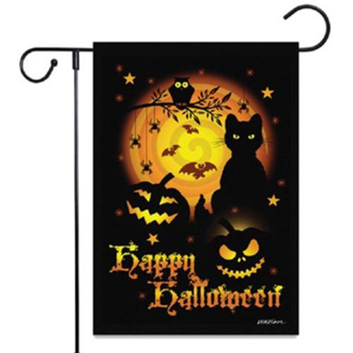 Halloween Decoration Garden Flag Burlap Garden Banner Fall Garden Flag House Yard