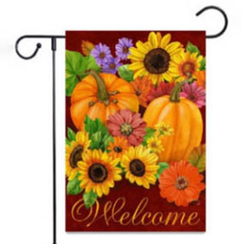 Garden Flag Burlap Fall Garden Banner Garden Flag Yard Halloween Decoration