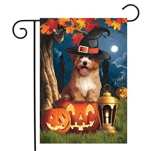 Halloween Yard Decoration Welcome Garden Flag Outdoor Banner Decorative Seasonal Small Burlap Garden Flag