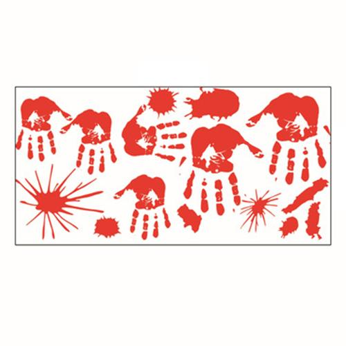 Halloween Stickers Bloody Handprint Window Wall Horror Stickers Decorations Bloody for Halloween Party Supplies