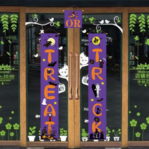 Halloween Decorations Outdoor Signs for Home Garden Front Door Hanging Decor Halloween Banner Set