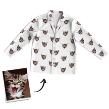 Custom Photo Long Sleeve Pajamas Sleepwear Nightwear, Lounge Wear
