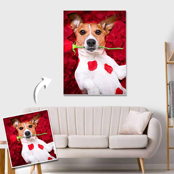 Custom Pet Photo Wall Decor Painting Canvas