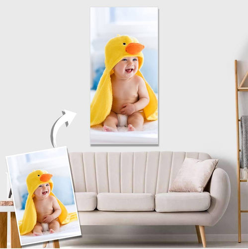 Custom Baby Photo Wall Decor Painting Canvas