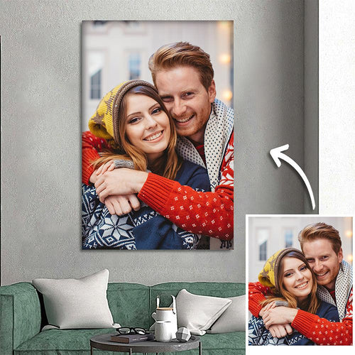 Custom Photo Wall Decor Painting Canvas Festival Gift For Couple