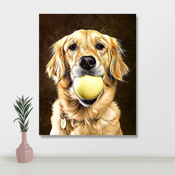 Custom Pet Photo with Frame Canvas Print (8*10IN)