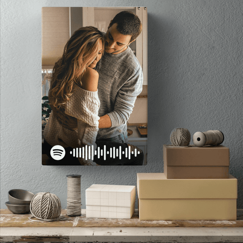 Personalized Photo Spotify Code Canvas Print Anniversary Gift