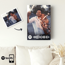 Spotify Code Personalized Photo Canvas Print Valentine's Day Gift