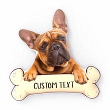Puppy Loves Bones Custom Photo 3D Portrait Pillow