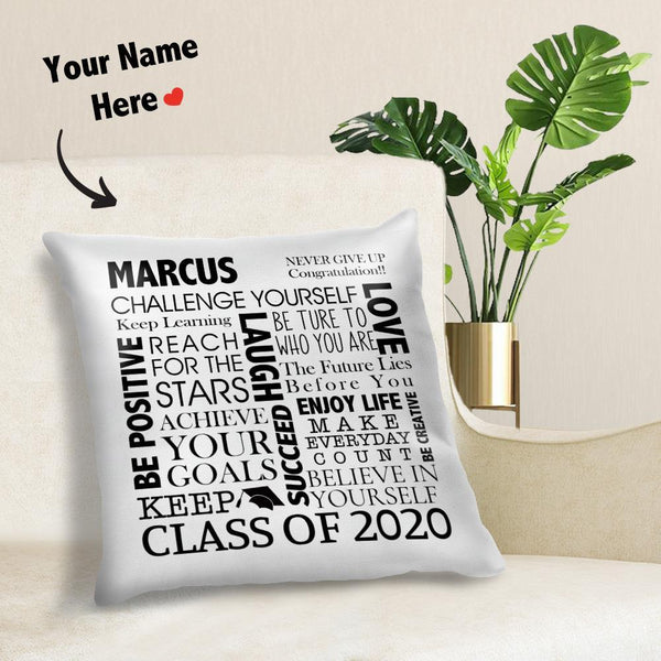 Custom Graduation Pillow Gift For Her Him Graduate Name and Date