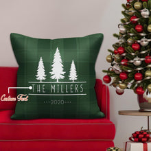 Holiday Gifts Personalized Pillow with Text Custom Holiday Tree Picture Pillow
