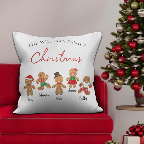 Holiday Gifts Personalized Pillow With Text Custom Holiday Funny Cartoon Character
