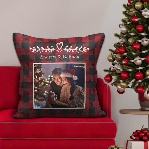 Personalized Couple Photo Pillow Custom Text Pillow Holiday Gifts for Him