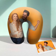 Custom U Pillow Custom Photo Travel Neck Pillow Comfortable U-shaped Pillow - Couple Photos