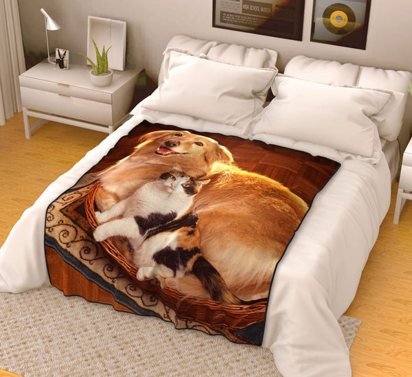 Personalized Pets Photo Fleece Blanket