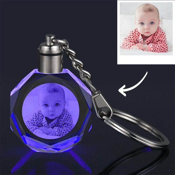 Custom Crystal Baby Photo Key Chain