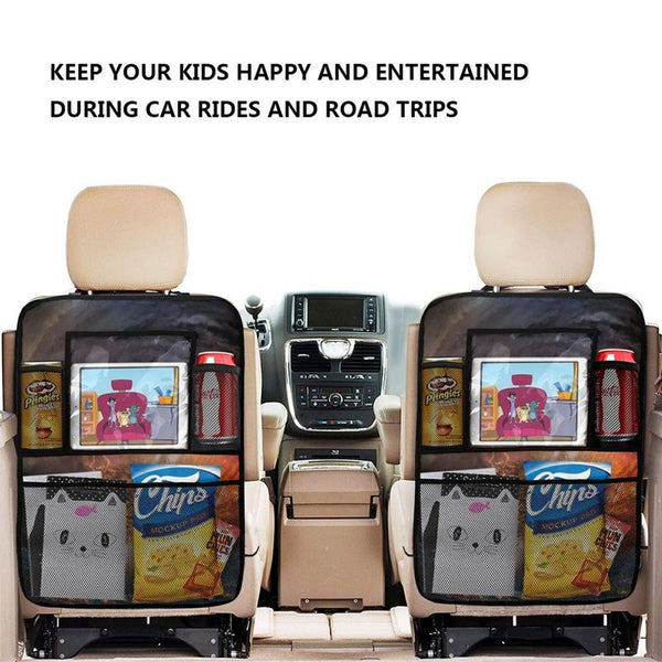 Custom Car Accessories Backseat Storage Bag 2pcs Girl Multi-Pocket