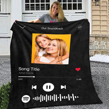 Spotify Code Music Personalized Fleece Blanket Mother's Day Gift for Her