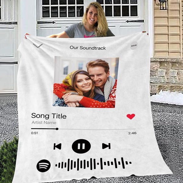 Spotify Code Music Personalized Fleece Blanket