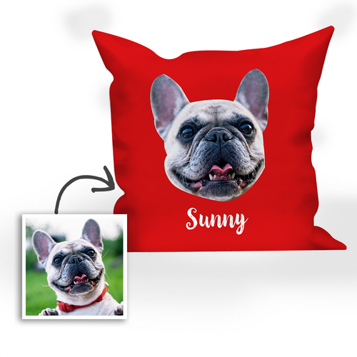 Multi-color Custom Engraved Dog Photo Pillow