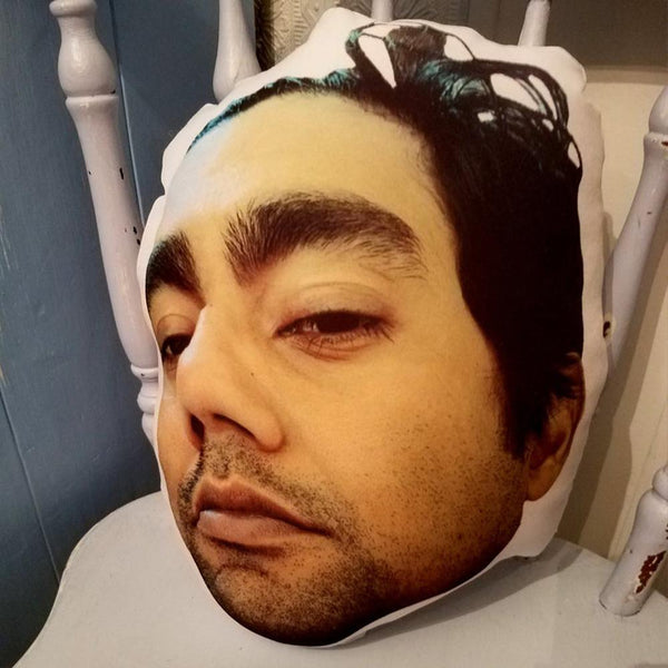 Custom Photo Face Pillow 3D Portrait Pillow-smileface
