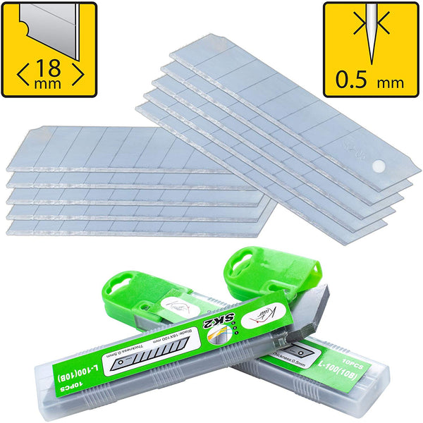 Box Cutter Utility Knife Replacement Blades (PACK of 10)